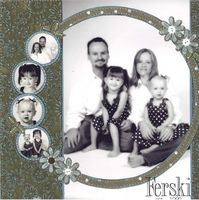 Cute Circle Family Page...with black & white photos with circle punch.