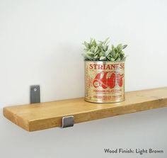 Reclaimed Scaffolding Board Shelves with Industrial Steel