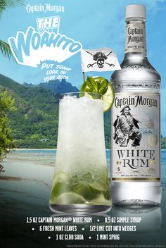 Mojito? More like Woahito. Mix up this summer classic with Captain Morgan White Rum and... put some loca in your boca. #SunsOutRumsOut