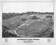 A depiction of Andersonville Prison by John L. Ransom, author of Andersonville Diary, Escape and List of the Dead.