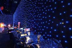 black drape events | Star Drop Show LED Curtains & Drape Rental / Purchase - Drape Kings