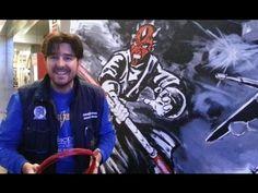 Iluminando con una onda vital kamehameha http://www.domoelectra.com/blog/enrollar-guia-pasacable-salon-comic-granada #ComicGr