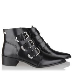 "Want these, maar overall uitverkocht  SuperTrash Laarzen ""Charlie Buckle"" Black Black"