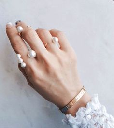 Avec NYC | Open Four Pearl Ring