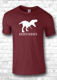 Daddysaurus Daddy t shirt Dinosaur T-Rex New by FourSeasonsTshirt