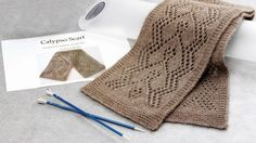 Calypso Lace Scarf Kit - Designed by Eugen Buegler with Arctic Qiviut Blend