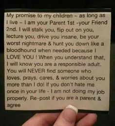 Parenting - A letter to our kids from the heart.