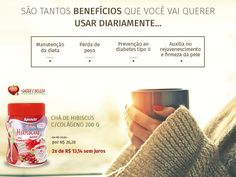 #Beneficios  Chá de Hibiscus com um preço Inacreditável!   Chá de Hibiscus c/Colágeno 200g por apenas R$ 26,28 Confira! http://www.maissaudeebeleza.com.br/cha-de-hibiscus-200g-com-colageno?utm_source=pinterest&utm_medium=link&utm_campaign=Chá+de+Hibiscus&utm_content=post