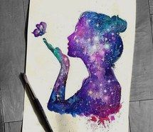 Inspiring image art, artist, butterfly, colorful, colors, cosmos, creative, draw, drawing, girl, glitter, hair, inspiring, painting, shine, sketch, stars #2999544 by loren@ - Resolution 640x636px - Find the image to your taste