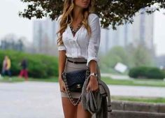 cute combo - I like everything except I would like the skirt to be longer.