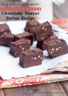 Easy Melt-In-Your-Mouth Chocolate Peanut Butter Fudge