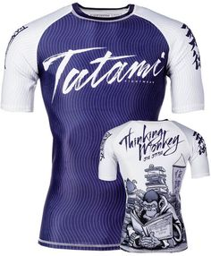 Tatami Thinker Monkey Short Sleeve Rash Guard NOGI Jiu Jitsu MMA