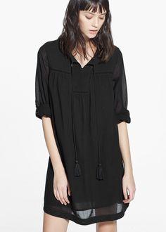 Kleid mit Wabenmuster