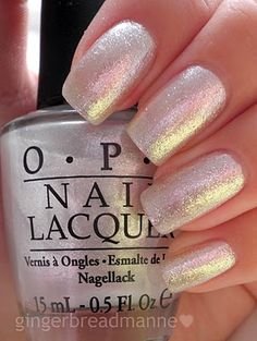 OPI Happy Anniversary. I like it, but it's a little sheer for me. Wish I had out a light gray underneath.