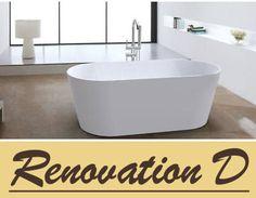1500 Slim Lip OVAL Bevel Sides Freestanding Bath Tub