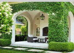 Vines Outdoor Seating, Outdoor Areas, Outdoor Rooms, Outdoor Living, Indoor Outdoor, Design Studio, House Design, Garden Design, Porte Cochere
