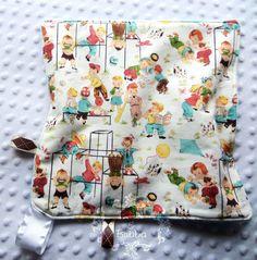 More NEW Items! Retro Boy Tag~Along Lovey Blanket  by BucciAndBubba, $23.00