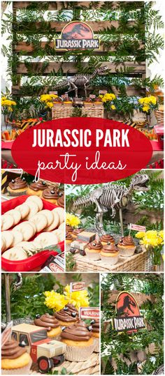 What an incredible Jurassic Park birthday party! See more party ideas at CatchMyParty.com