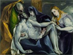 La Pieta by El Greco (Domenikos Theotokopoulos) National Gallery Of Art, Art Gallery, La Pieta, Art Occidental, Oil Canvas, Our Lady Of Sorrows, Byzantine Art, Spanish Artists, Spanish Painters