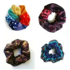 Handmade scrunchie hair accessories any colour or pattern