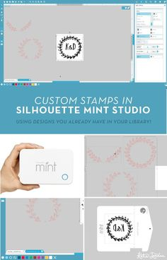 How to design custom stamps in Silhouette Mint Studio – Katie Jarman Silhouette Mint, Silhouette Curio, Cameo Cutter, Craft Cutter, Custom Stamps, Planner Organization, Craft Tutorials, Paper Crafts, Crafty