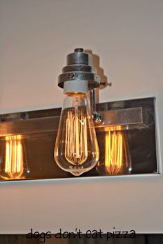 Updating Light Fixture With Industrial Bulbs