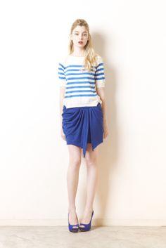 border knit jersey skirt