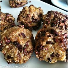 In the midst of all the push-ups and kale, it\\\'s important to have healthy treatsto look forward to!I wanted to share this delicious recipe for raw cookie dough bites, courtesy of A Dash of Compassion that has been my personal favorite lately.Use raw cacao nibs in place of chocolate chips ...