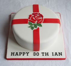 England Rugby Birthday Cake