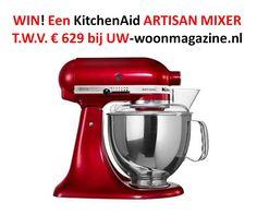 Win een KitchenAid keukenrobot in een kleur naar keuze! - Nieuws - De beste keuken ideeën | UW-keuken.nl