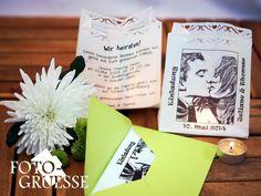 Einladungen - Foto- Lichttüte als Einladungskarte - ein Designerstück von Fotogruesse bei DaWanda
