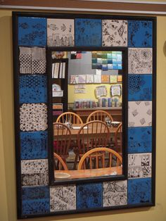 "All Fired Up Ceramics Studio in DC: ""We love to help you with ideas and planning for your class projects.  Tiled mirror projects are very popular among school auctions.  They are easy to put together and look fabulous."""
