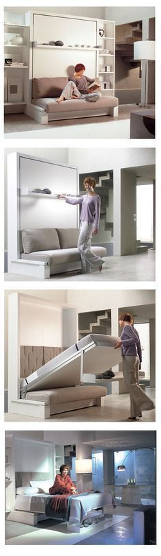 I've posted this before, but am reminded of how much I love this idea. Definitely considering it. Bed/sofa. Love this!
