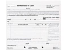 Part Bill Of Lading Short Form Set Of   Products