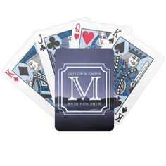 #createyourown #customize - #Handsome Monogram Beautiful Landscape Photo Simple Bicycle Playing Cards