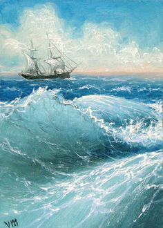 139 Sailing in the Rough Sea ACEO open by vladimirmesheryakov, $2.99