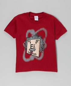 Look what I found on #zulily! Red Einsteinium Element Tee - Kids #zulilyfinds