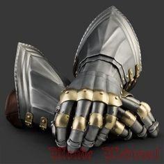 Steel gauntlet armor