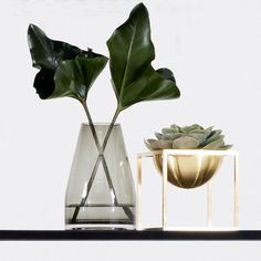 Spatia Vase  Brass Kubus Bowl... Love! Available in our online Boutique…