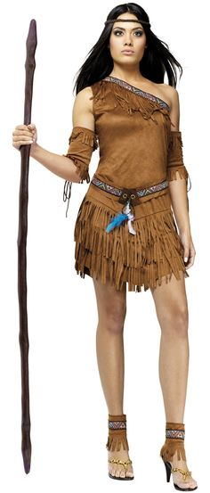 pocahontas costume | ... Pow Wow Pocahontas Indian Costume Sexy Indian Costumes - Mr. Costumes
