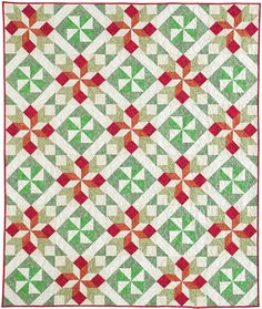 Christmas Cactus by Leanna Spanner in Quilters Newsletter Presents Best Christmas Quilts 2016.