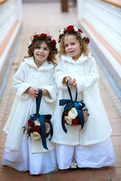 Heavenly Blooms: weddings winter wedding flower girls