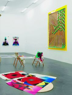 """DAS INSTITUT (Kerstin Braetsch and Adele Roeder), """"Non Solo Non Group Show,"""" exhibition view at Kunsthalle Zürich, 2009."""