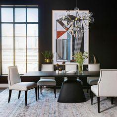 Taji Dining Table, Onyx – High Fashion Home Furniture, Oak Dining Table, Black Dining Room, Home, Dining, Dining Furniture, Dining Table, Table, Black Dining Room Table