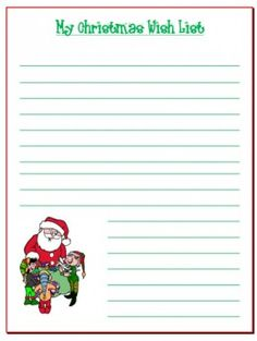 Printable Santa Wish List Interesting Christmas Wish List Template  Template  Pinterest  Template