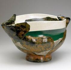 """Wayne Higby #raku #vessel [""""green water afternoon,"""" 1992]"""