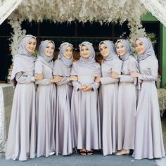 Ideas For Party Outfit Formal Dress Fashion Muslimah Wedding Dress, Muslim Wedding Dresses, Muslim Dress, Bridesmaid Dresses, Kebaya Muslim, Bridesmaid Makeup, Hijab Dress Party, Hijab Style Dress, Dress Outfits