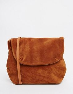 Pieces Suede Cross Body Bag