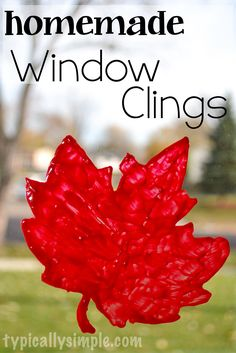 Using puffy fabric paint and wax paper, create your own window clings - perfect for any season or holiday!
