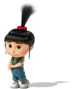 Despicable Me - Agnes Gru (voiced by Elsie Fisher) is the youngest and cutest of Gru's three adopted daughters. She greatly adores unicorns. She is a very naïve and innocent child, trusting Gru deeply, asking to hold his hand and for him to read her stories. She is the main reason Gru begins to change his ways, her unconditional adoration of him regardless of how he treats her makes him realize what life is really about.